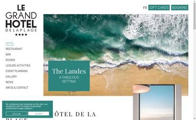 Site internet de Societe d'Exploitation du Grand Hotel de la Plage