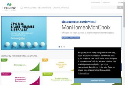 Site internet de Lehning Entreprise