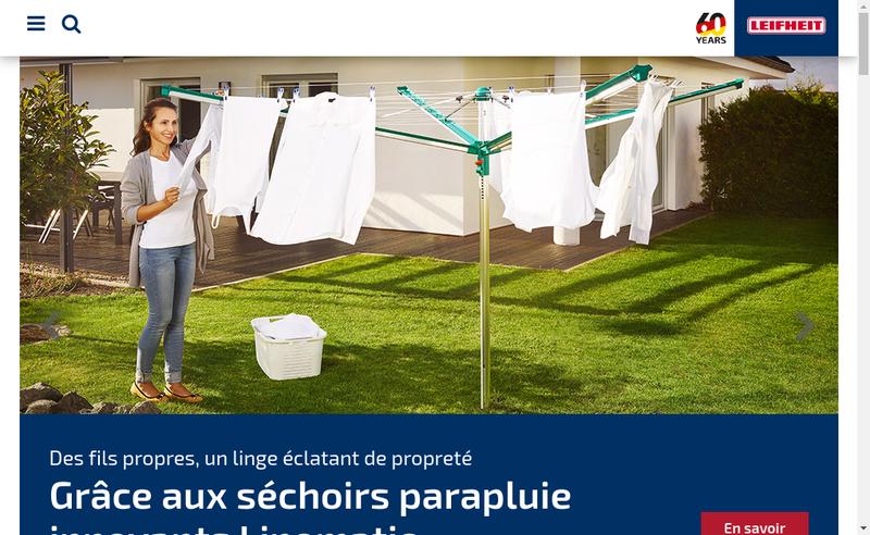Capture d'écran du site de Leifheit France