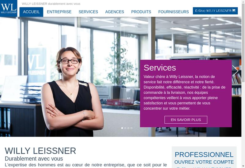 Capture d'écran du site de Willy Leissner
