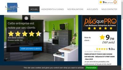 Site internet de Lejamtel Agencements