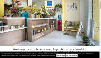 Capture d'écran du site de Lejamtel Agencements