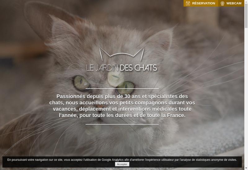 Capture d'écran du site de Le Jardin des Chats