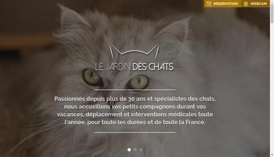 Site internet de Le Jardin des Chats