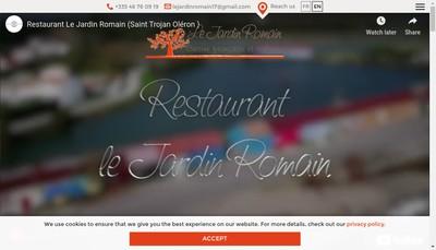 Site internet de Jardin Romain