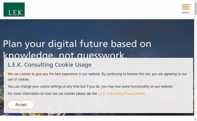 Site internet de Lek Consulting