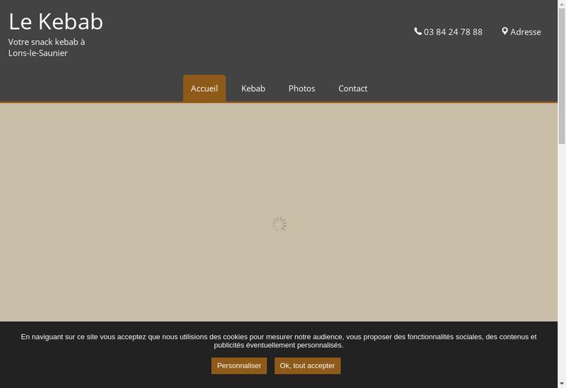 Capture d'écran du site de Le Kebab
