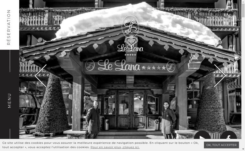 Capture d'écran du site de Hotel le Lana Se