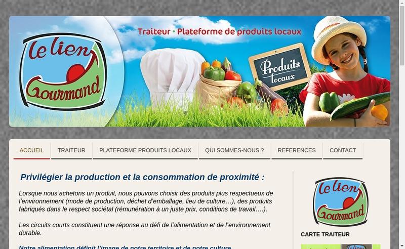 Capture d'écran du site de Le Lien Gourmand