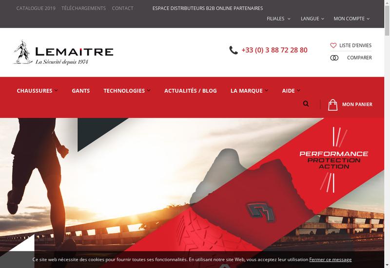 Capture d'écran du site de Lemaitre Securite