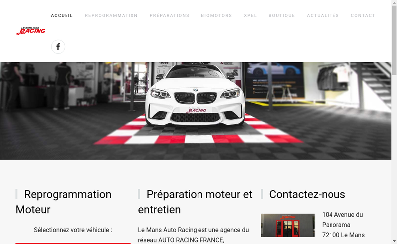 Capture d'écran du site de Le Mans Auto Racing