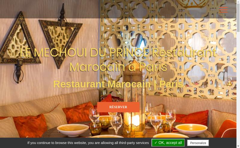 Capture d'écran du site de Le Mechoui du Prince