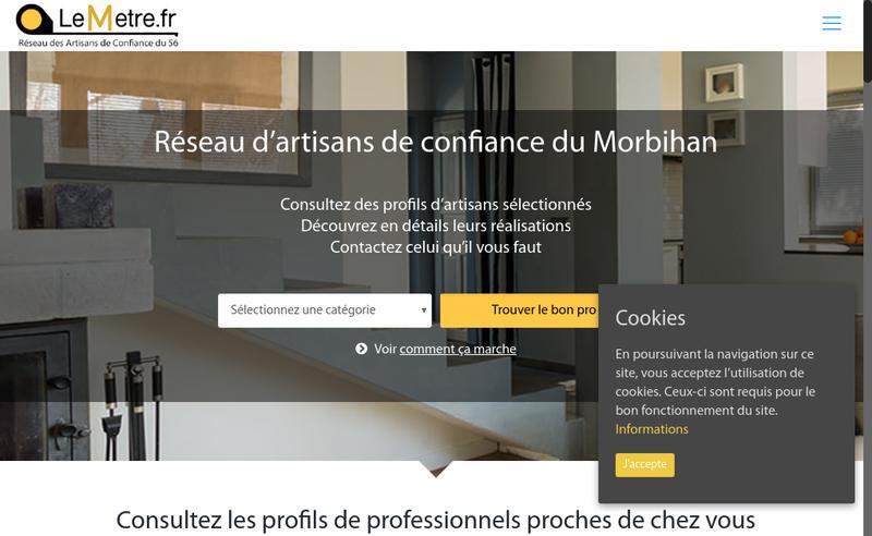 Capture d'écran du site de Lemetre Fr SAS