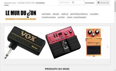 Site internet de Le Mur du Son - Instruments de Musique