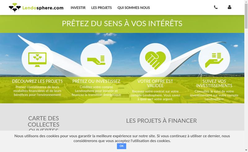 Capture d'écran du site de Lendosphere