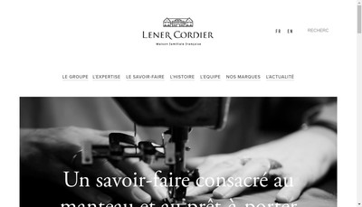 Site internet de Societe Lener Cordier