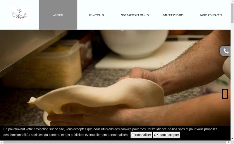 Capture d'écran du site de Le Novello