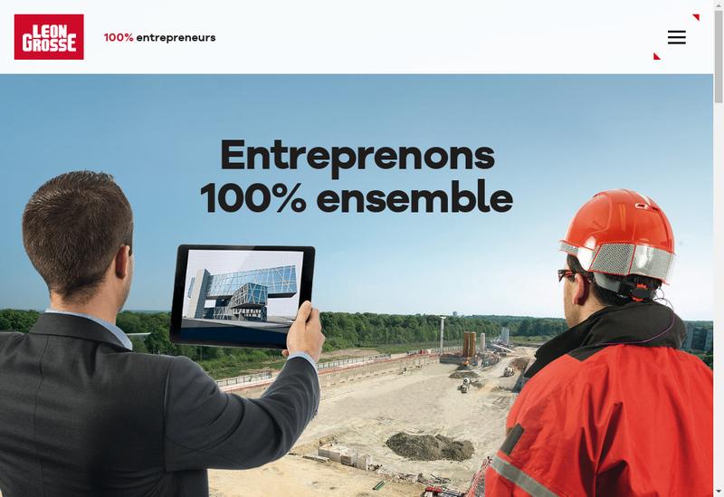 Capture d'écran du site de Entreprise Generale Leon Grosse