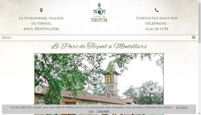 Site internet de SARL le Parc de Tirpoil