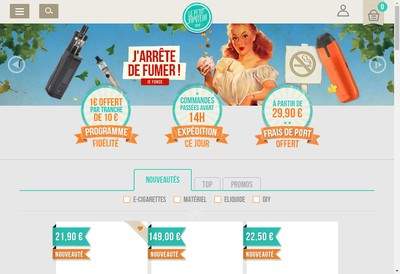 Site internet de Le Petit Vapoteur