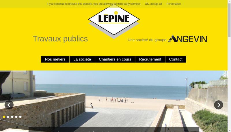 Capture d'écran du site de Lepine Tp