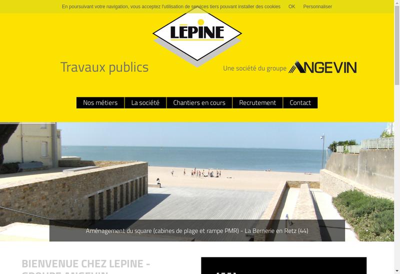 Site internet de Lepine Tp