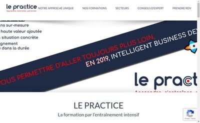 Site internet de Le Practice