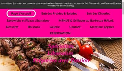 Site internet de Le Prince Cuisine Libanaise
