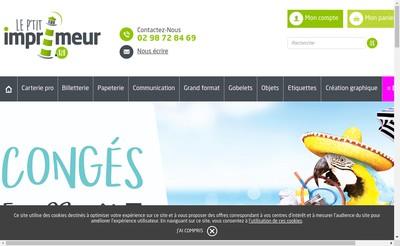 Site internet de Le P'Tit Imprimeur Bzh