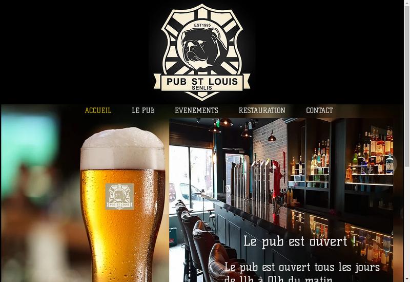 Capture d'écran du site de Pub Saint Louis