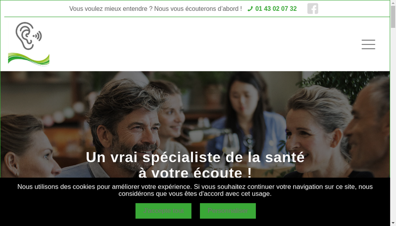 Capture d'écran du site de Le Raincy Surdite