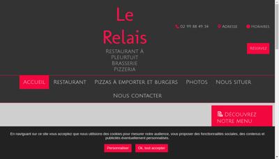 Capture d'écran du site de Le Relais