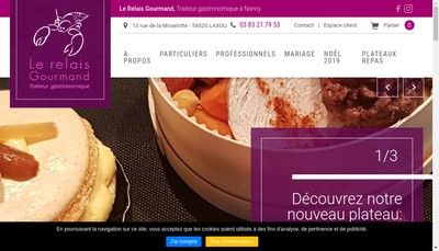 Site internet de Le Relais Gourmand