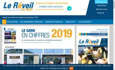 Site internet de Le Reveil du Midi