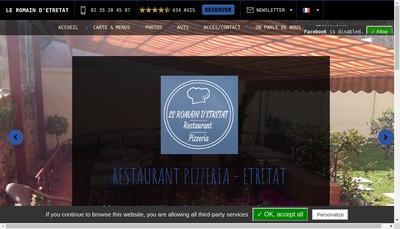 Site internet de Le Romain d'Etretat