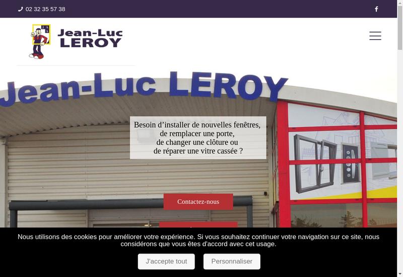 Capture d'écran du site de Leroy Jean Luc