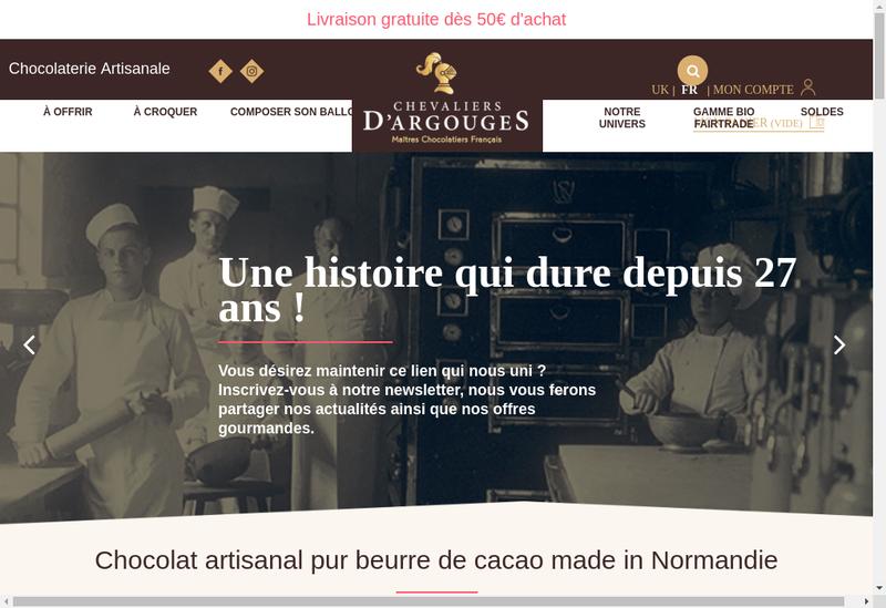 Capture d'écran du site de Les Chevaliers d'Argouges - Palais d'E