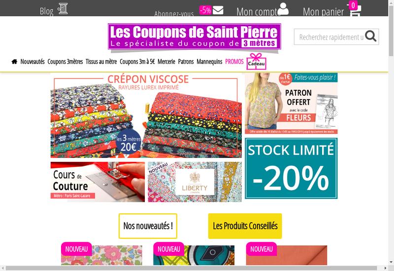 Capture d'écran du site de Les Coupons de Paris
