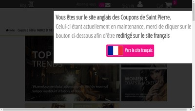 Site internet de Les Coupons de Paris