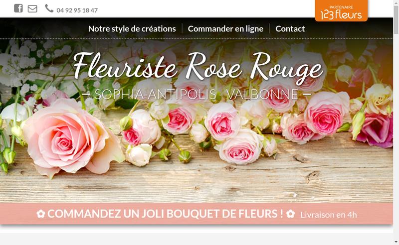 Capture d'écran du site de Rose Rouge