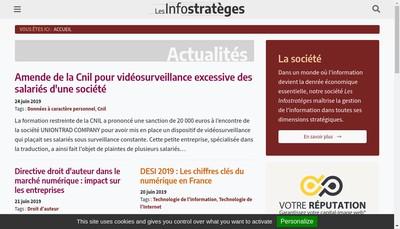 Site internet de Les Infostrateges