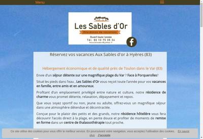 Site internet de Sables d'Or