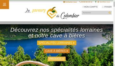 Site internet de Les Saveurs du Colombier