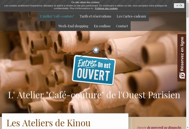 Capture d'écran du site de La Forge