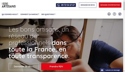 Site internet de Les Bons Artisans