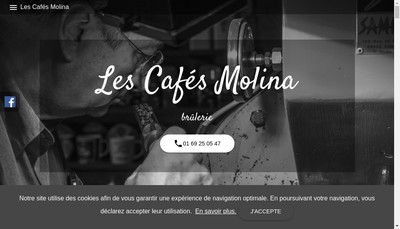 Site internet de Les Cafes Molina