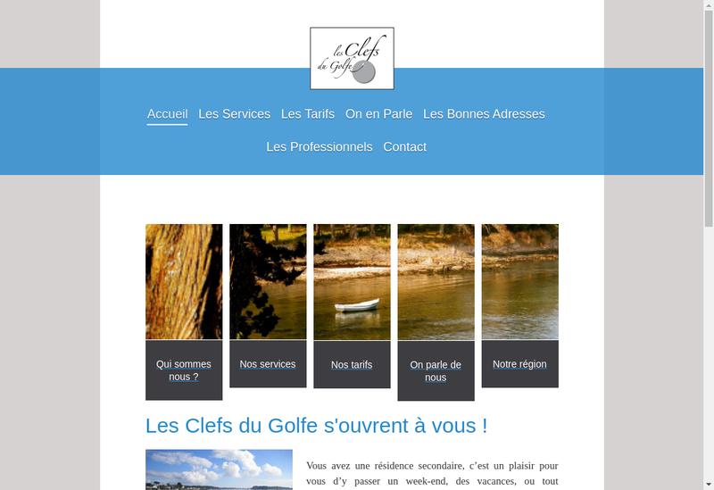 Capture d'écran du site de Les Clefs du Golfe