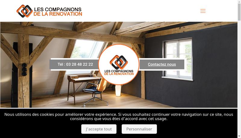 Capture d'écran du site de Les Compagnons de la Renovation