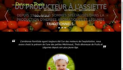 Site internet de SAS les Delices de Thais