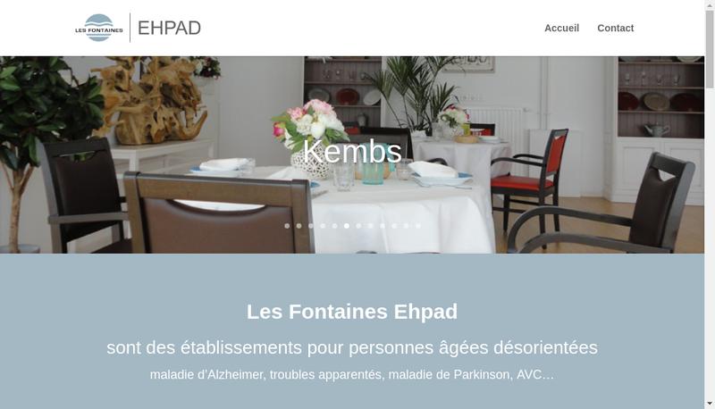 Capture d'écran du site de Les Fontaines Ehpad
